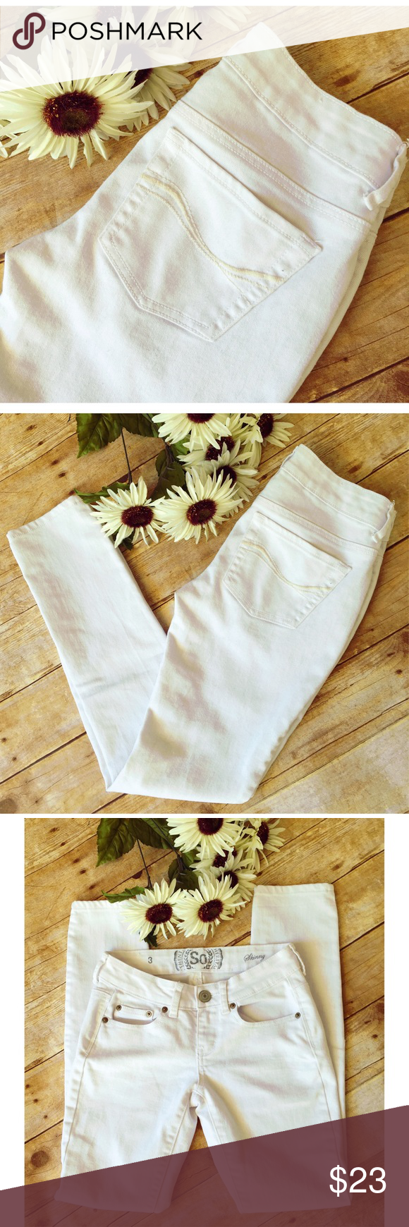 """$10 SALE🎉🎉🎉American Heritage Skinny Jeans Perfect white skinny jeans for the summer! In excellent condition. Inseam: 28.5""""🌺 American Heritage Jeans Skinny"""