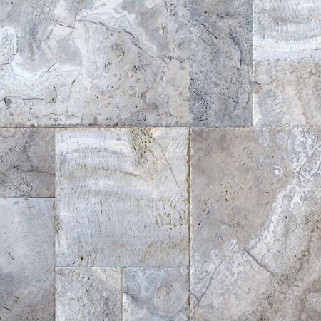 Versailles Pattern Travertine Silver