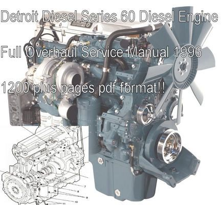 Detroit Diesel Series 60 Service Shop Manual Download