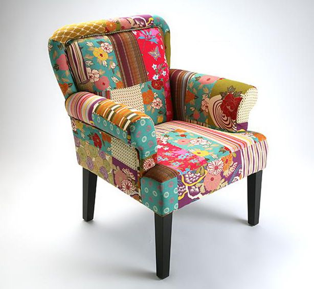 Muebles sillon patchwork patchboss for Sillones retro baratos