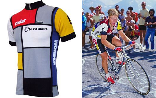 f3d484dbe Steve Bauer rockin  the legendary La Vie Claire jersey Cycling Jerseys