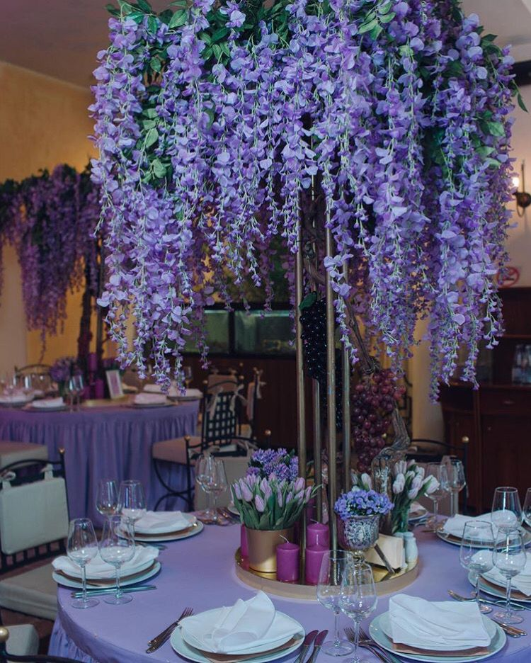 Wisteria Flower Wedding Centerpiece (With Images)