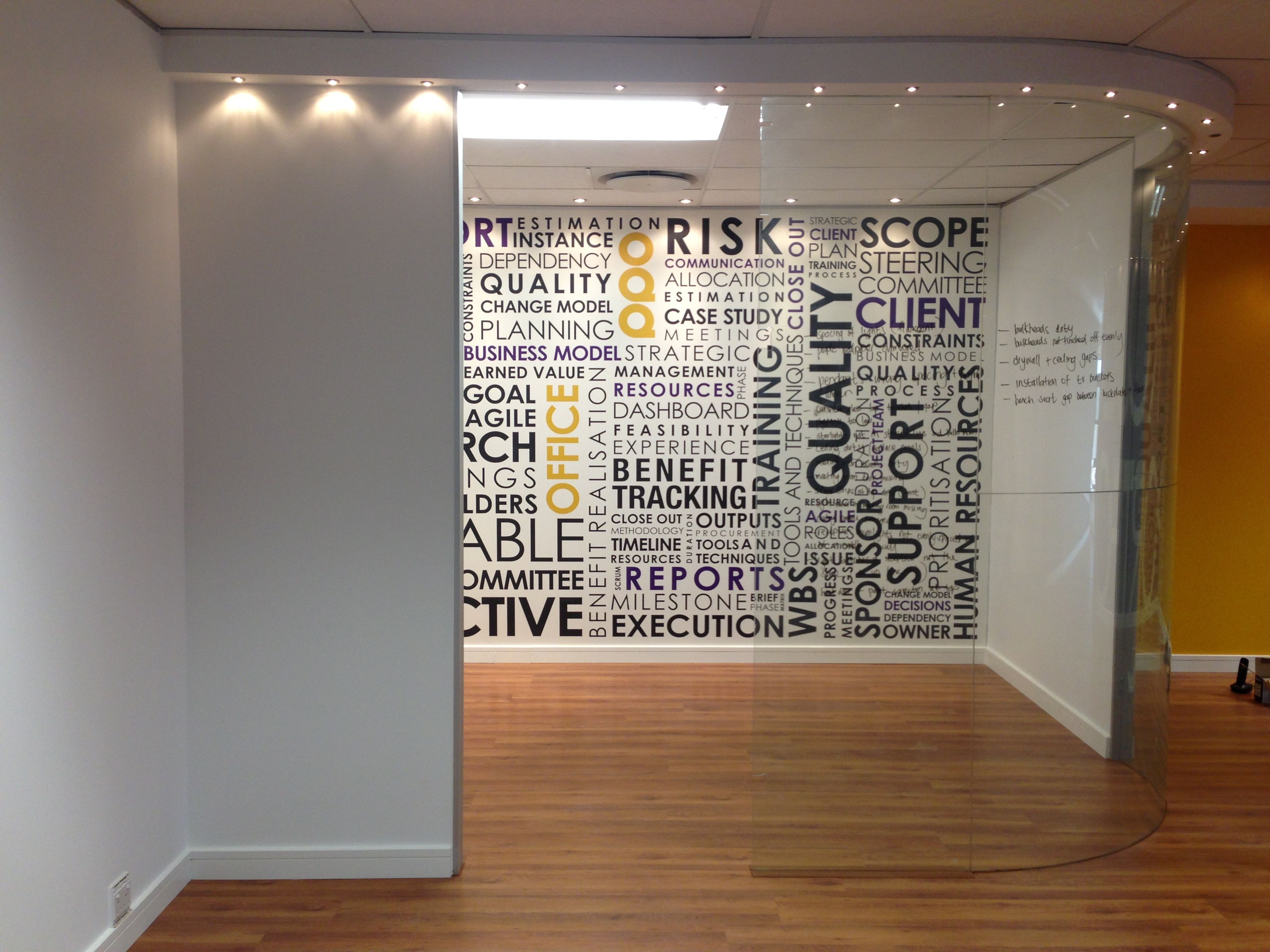 Personalized office wallpaper with words - Cool and ...