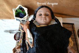 Bear, Dolly and Moi: bedding for Kaya, the Christmas doll