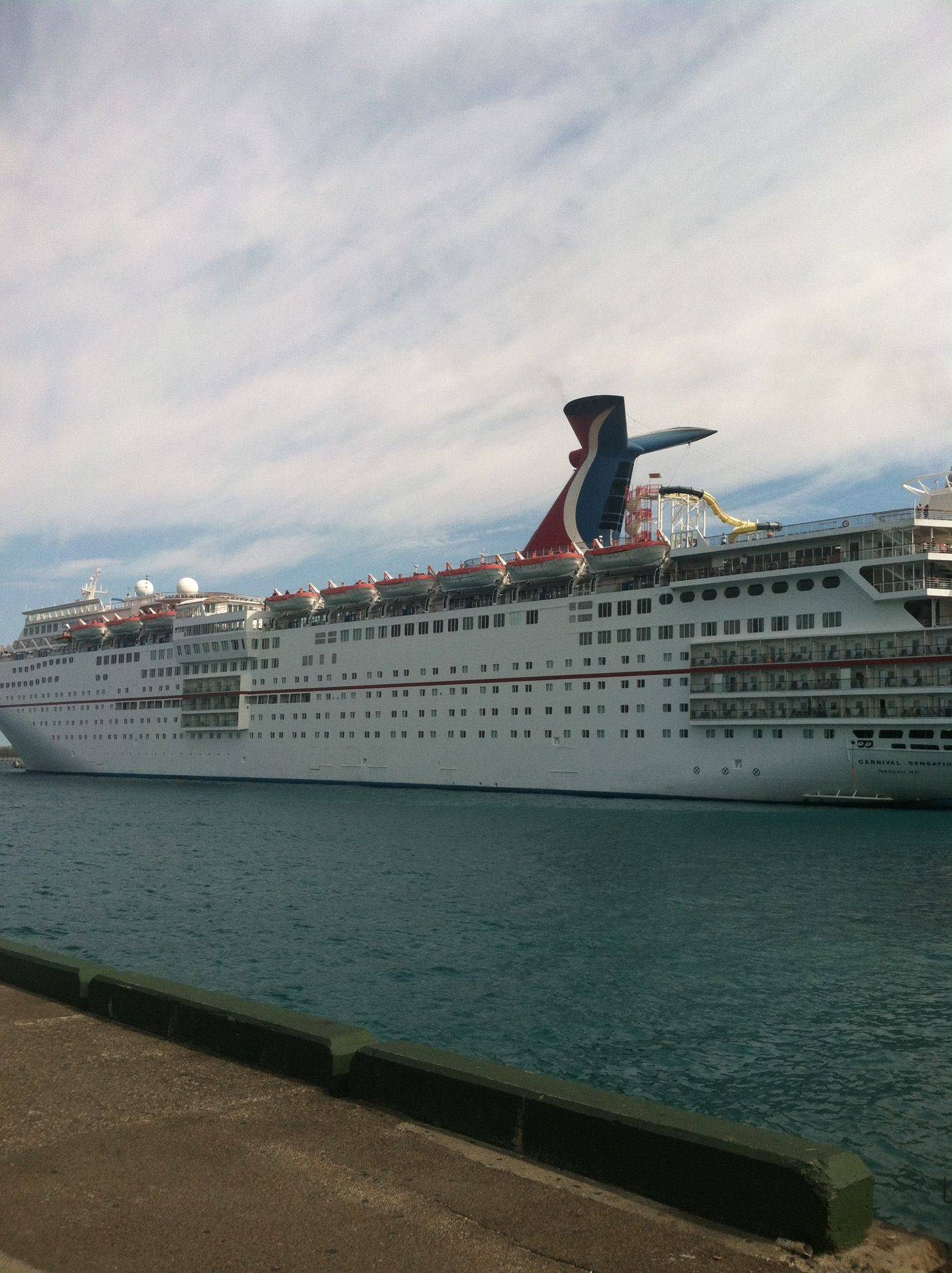 Carnival Sensation in Cape Canaveral, FL 3rd trip for Chase, Trav & Tyler.  Went to Cozumel and Grand Cayman. Went swimming with the Stingray's