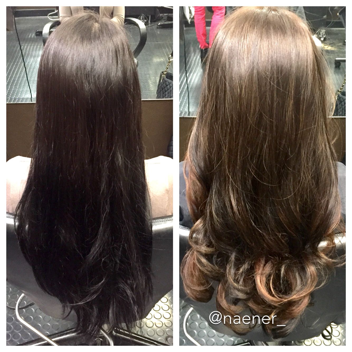 Instagram Naener Before And After Box Dyed Hair To Baby Lights Ombre Natural Ash Brown Hair Balayage Brunette Hair Natural Ash Brown Hair