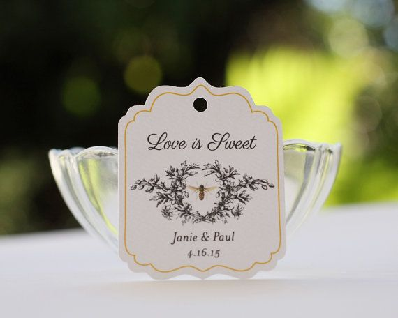 Personalized Honey Gift Tags - Set of 20  These pretty scalloped die-cut tags will be a beautiful addition to your gifts, products or favors.