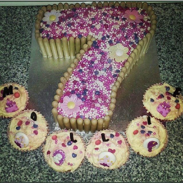 Fine Number 7 Birthday Cake 7Th Birthday Cakes Birthday Cakes For Men Funny Birthday Cards Online Alyptdamsfinfo