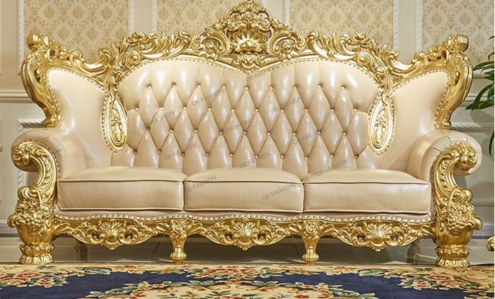 Amazing OE FASHION Living Room Furniture 1+2+3 Seat Uesd Chesterfield Gold Leather  Sofa, View Living Room Furniture Purple Sofa, OE FASHION Product Details  From ...