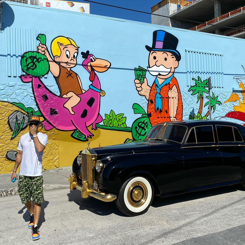 Alec Monopoly in Miami, Florida, USA, 2019 Graffiti, Art
