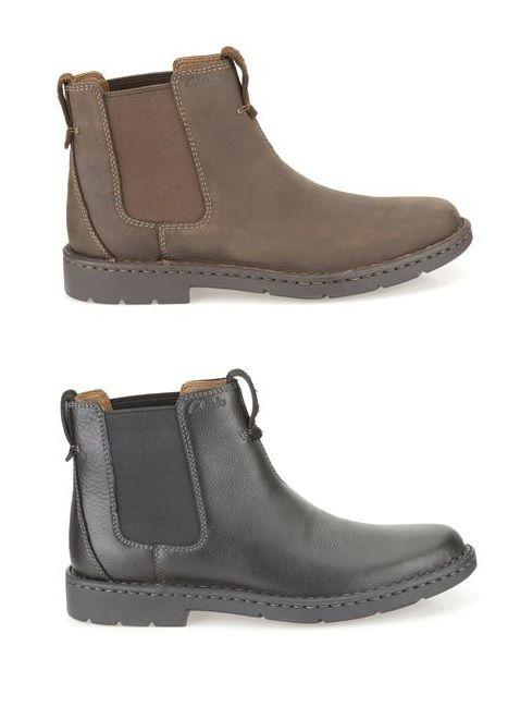 Angesagte Stiefel aus dunkelbraunem oder schwarzem Nubukleder und mit 3 cm dicker Gummisohle, Clarks Stratton Hi, 120,00 Euro: http://www.clarks.de/p/26102602 #AW14