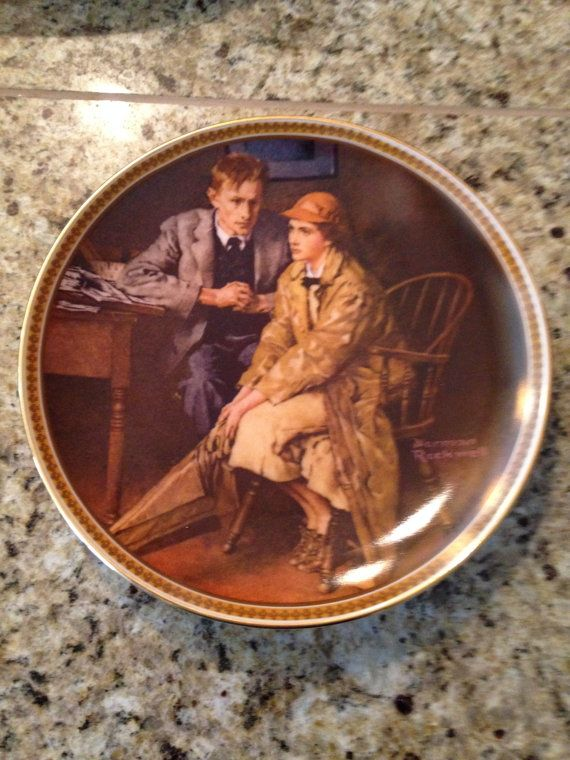Norman Rockwell Collector's Plate Confiding in by JewelzVintage