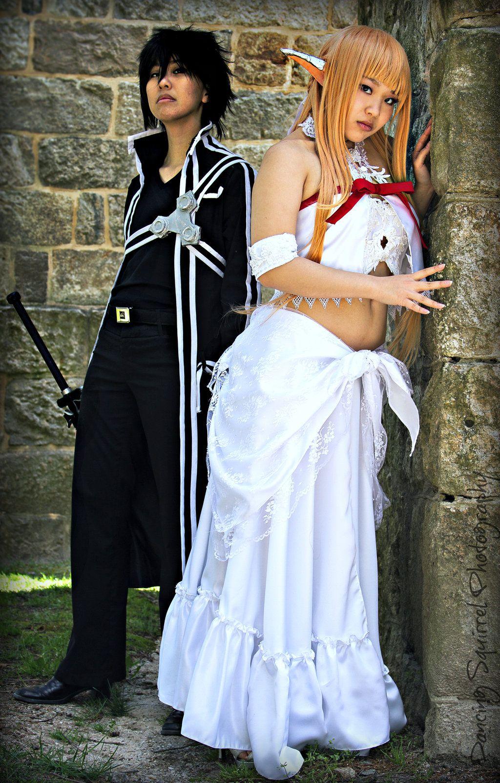 Yuuki Asuna and Kirigaya Kazuto - Sword Art Online by Dancing-Squirrel.deviantart.com on @deviantART
