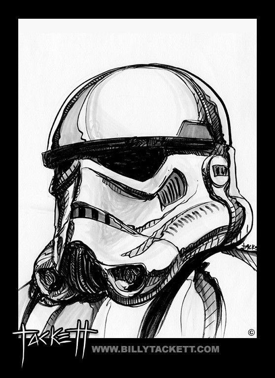 Star Wars Stormtrooper Original Art by Billy Tackett