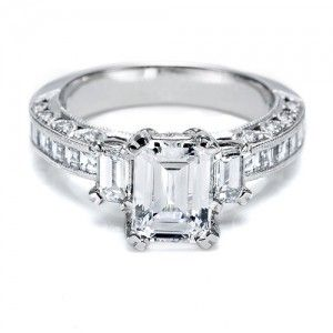 Tacori emerald cut perfection