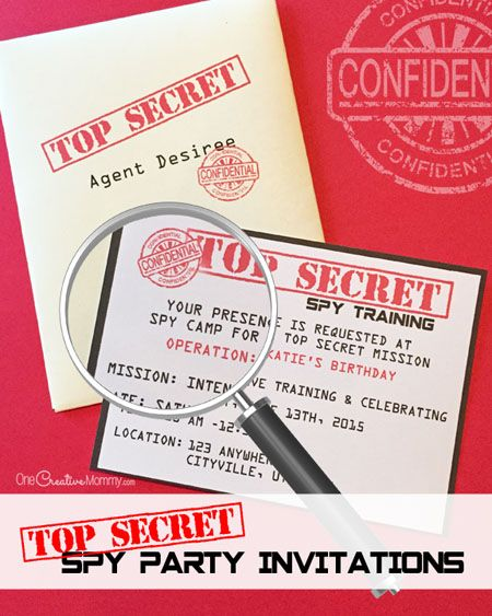 Printable spy party invitations spy party spy and envelopes create authentic spy party invitations and envelopes with these fun printables the kids are sure stopboris Images