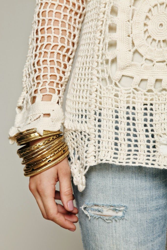 Pin de Cui Gutierrez en blusa blanca | Pinterest | Blusas de crochet ...