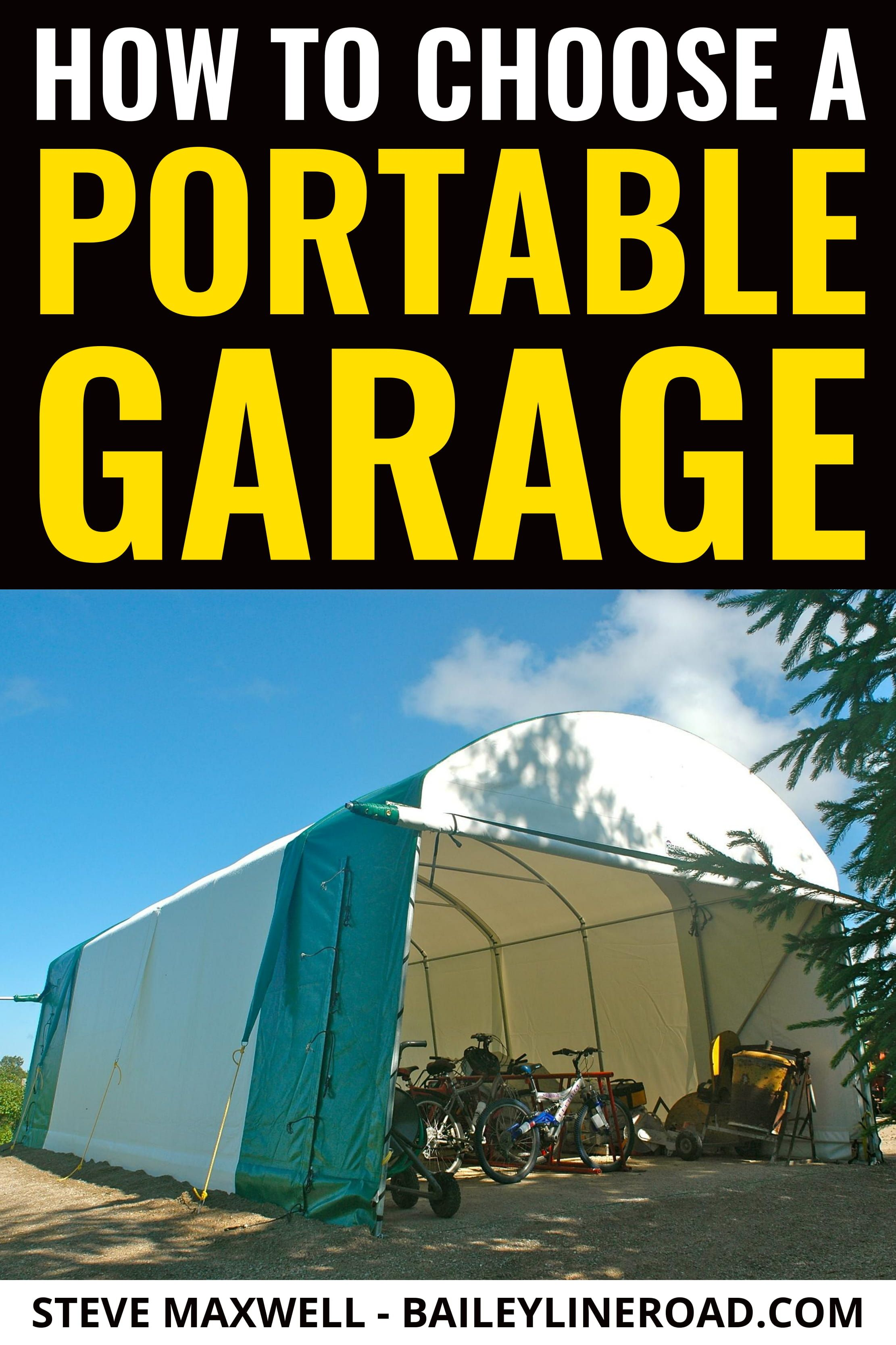 Portable Garage How To Choose Erect And Manage A Fabric