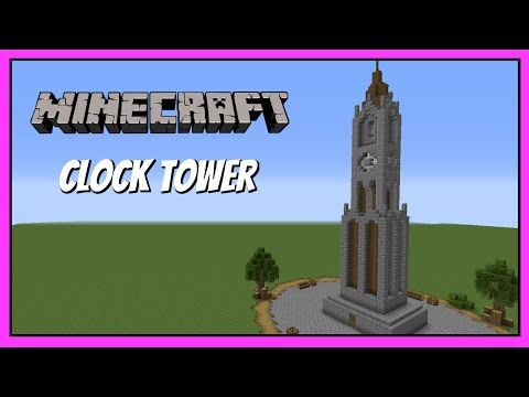 Minecraft How to build - Small clock tower tutorial