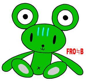 Teddy bear cartoon character - Is it a bear or a frog?