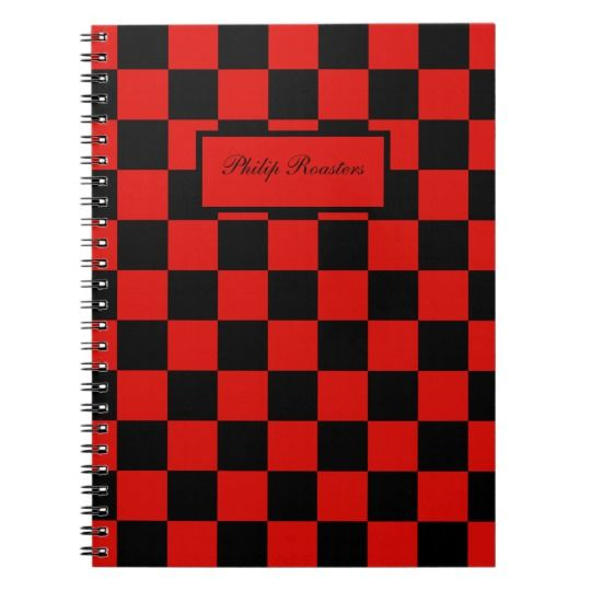 Black and red - Italian football club - Milan Spiral Notebook