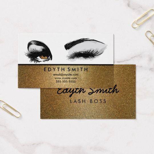 gold glitter mascara or eyelashes business card gold glitter mascara or eyelashes business card perfect - Eyelash Business Cards