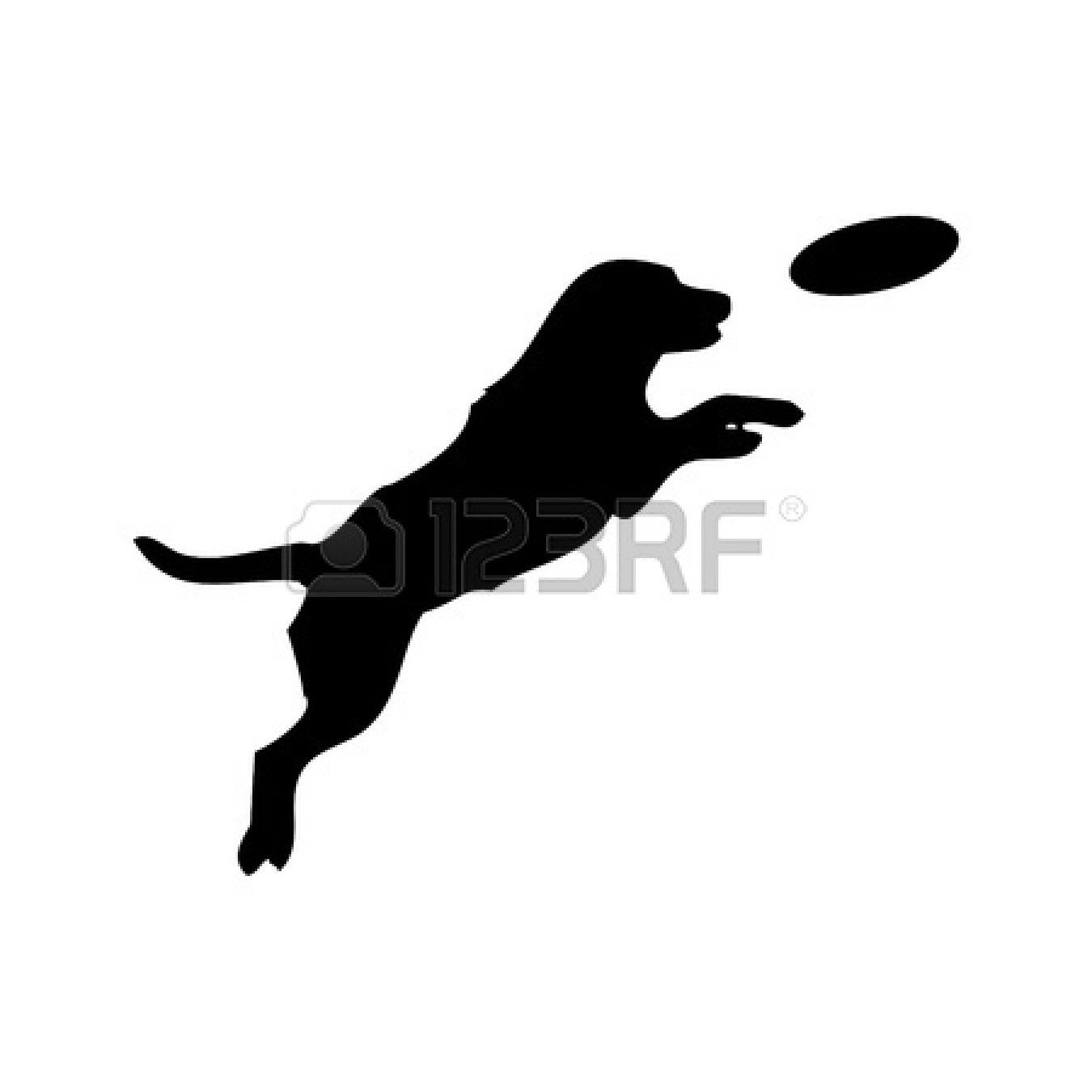 Leaping Dog Silhouette Silhouette Of Jumping Dog How To Draw