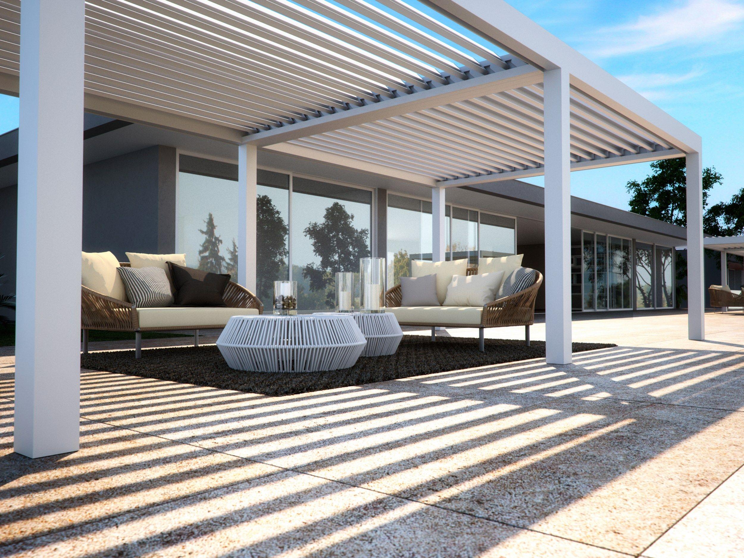 bioklimatische pergola terrassenueberdachung – menerima, Terrassen ideen