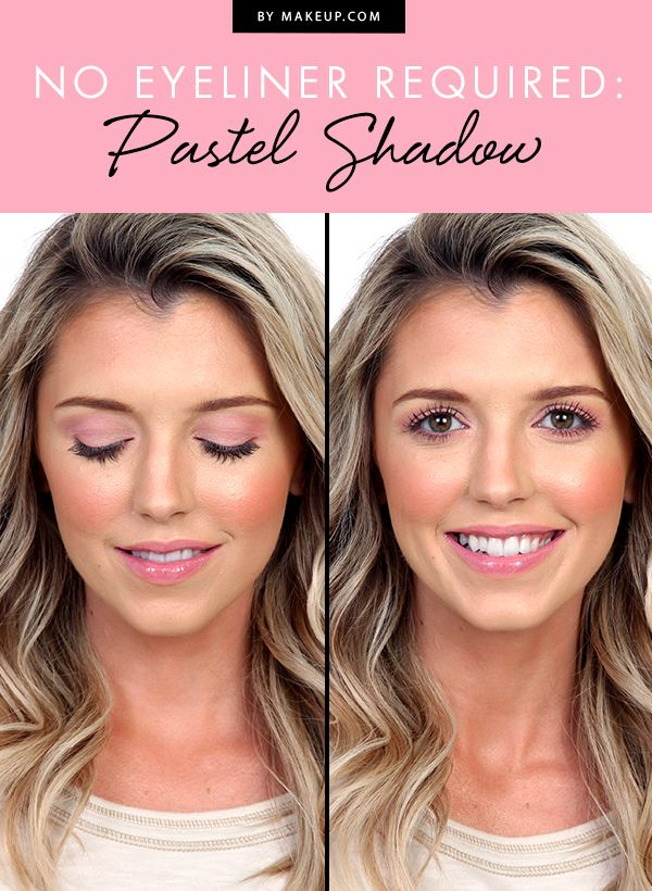 Capture fairy-life beauty with pastel shadow, pink lips, and no eyeliner. You'll turn heads with this gorgeous, soft makeup look!