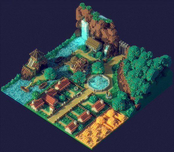 Another little animation scene for fun! #madewithunity #MagicaVoxel https://t.co/9MrDiI5BA3