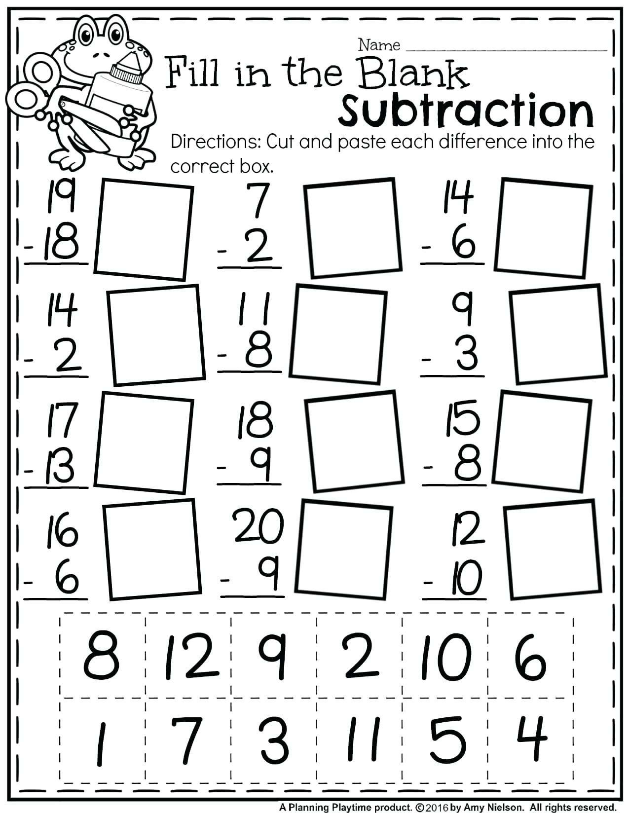 Free Preschool Kindergarten Worksheets Counting Number
