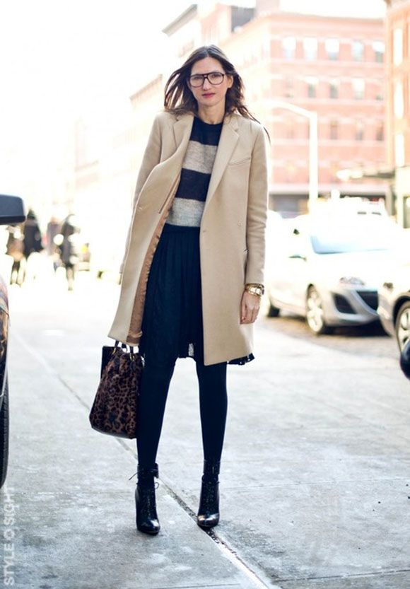 pleated skirt + ankle boots