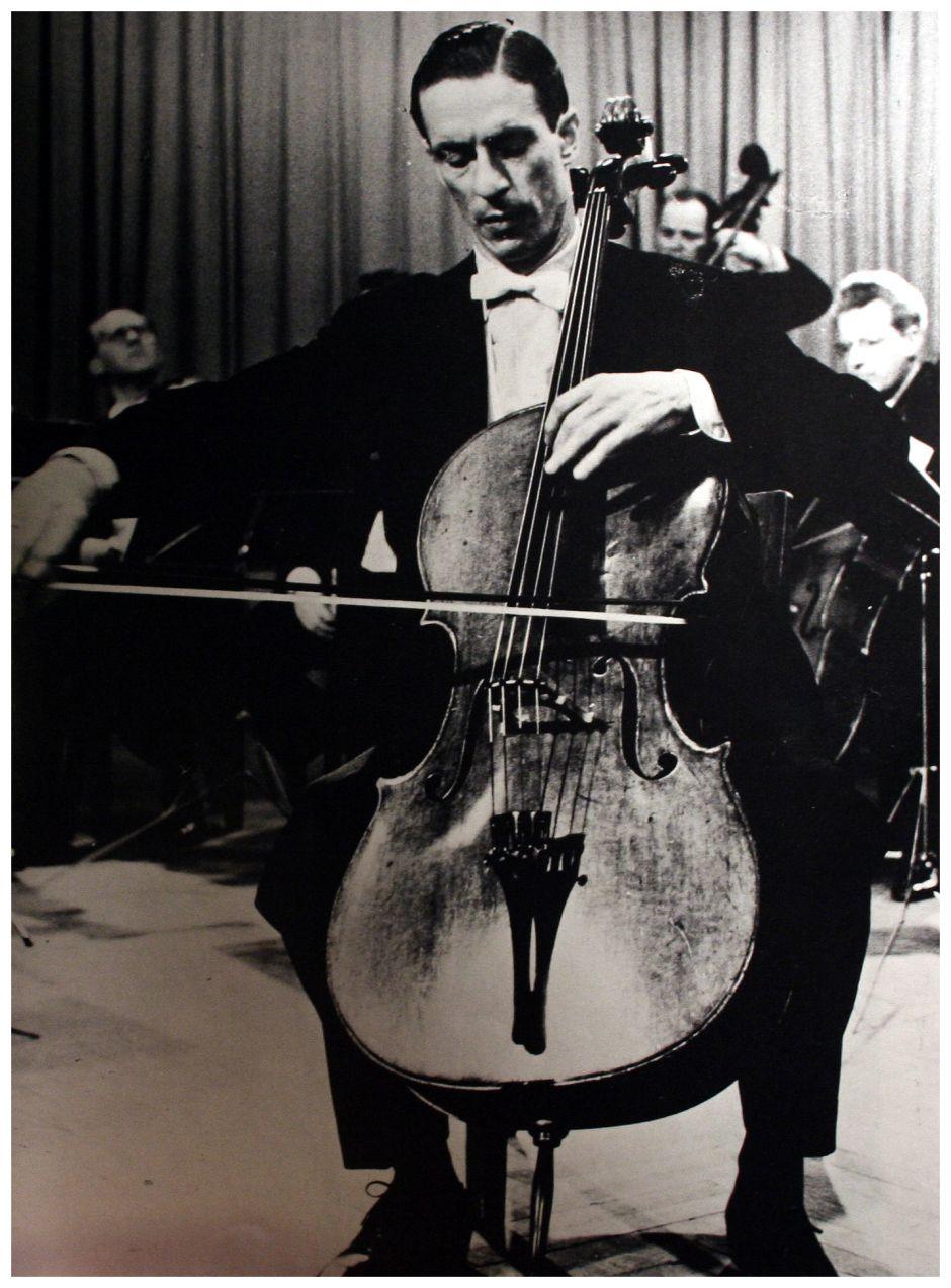 Antonio Janigro Rare Formal Portrait Cellist Classical Musicians Cello Music