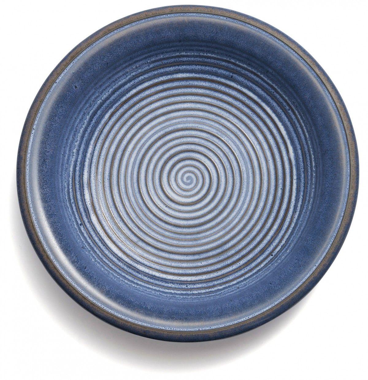 Coroa Bowl, 40cm, Blue - Montefeltro - David Mellor Design #craft #handmade #ceramics