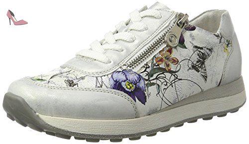 Rieker L6506 Damen Kurzschaft Stiefel Weiß muscheloffwhite
