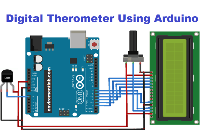 Envirementalb Com In 2020 Digital Thermometer Arduino Circuit Components