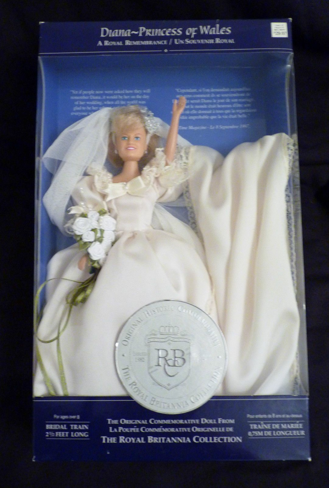 Awesome Princess Diana Porcelain Doll In Wedding Gown Pictures ...