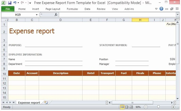 Receipt Reimbursement Templates