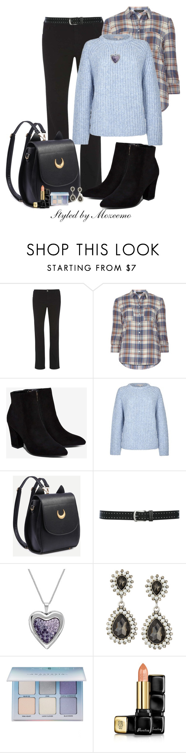 """""""Jeans Outfit"""" by mozeemo ❤ liked on Polyvore featuring Dorothy Perkins, Billini, Paul & Joe Sister, M&Co, Emily & Ashley, Anastasia Beverly Hills and Guerlain"""