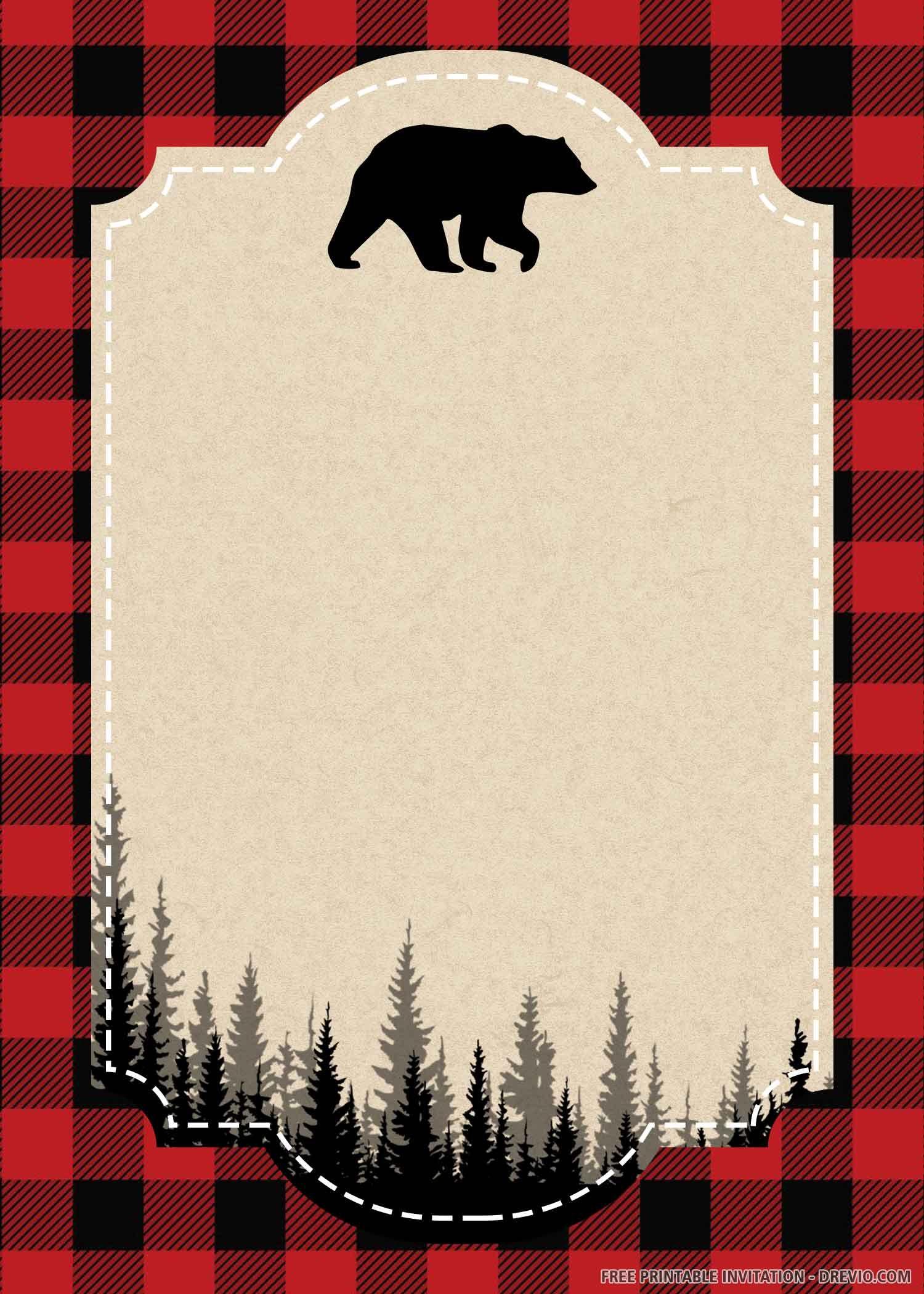 FREE PRINTABLE) – Lumberjack Birthday Invitation Template