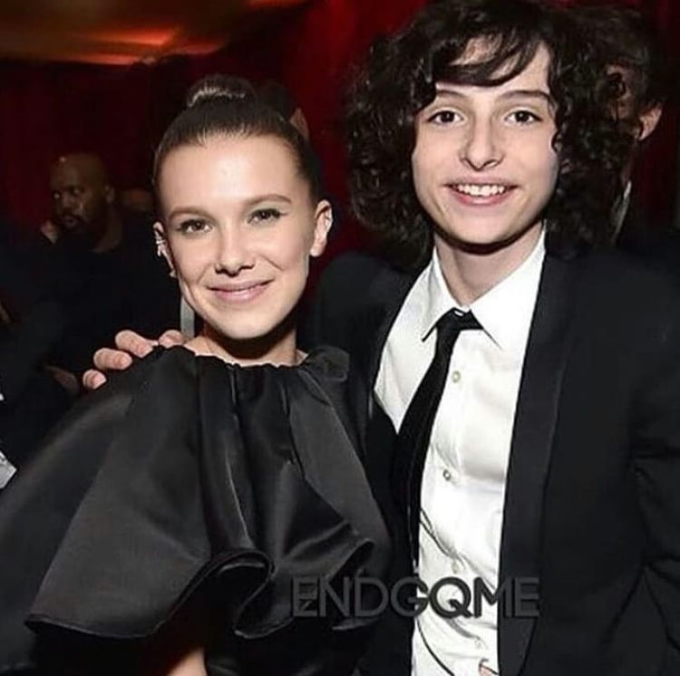 Golden Globes 2018 All in black Milly Bobby Brown and Finn Wolfhard