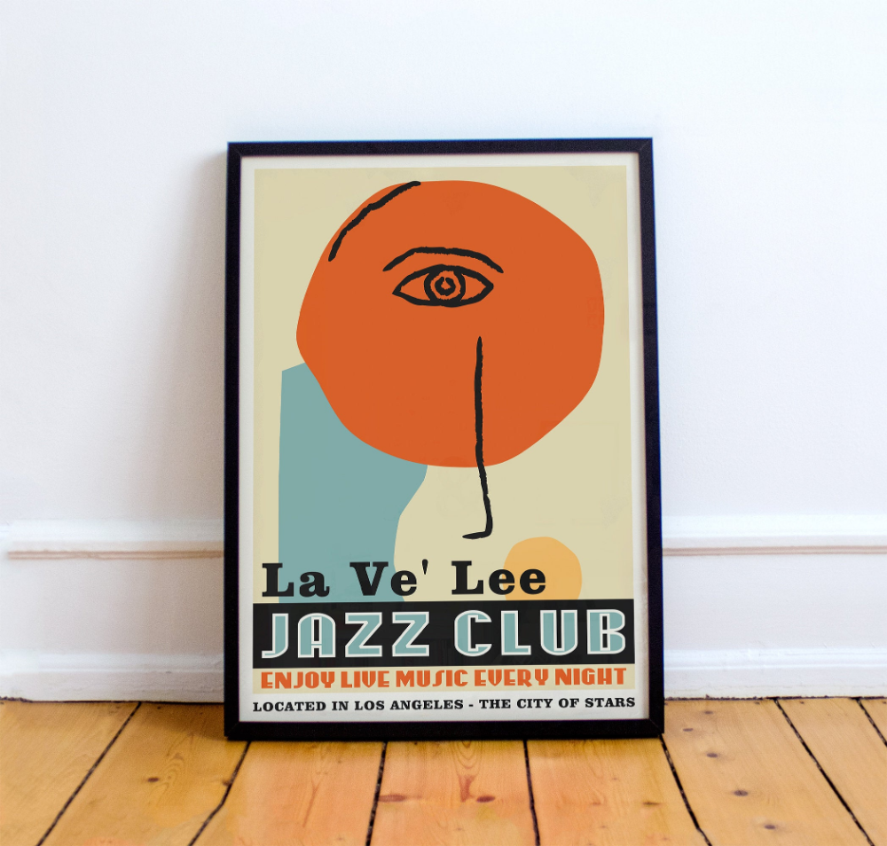 Vintage Jazz Poster Music Poster Living Room Wall Art Mid Century Modern Jazz Wall Art Music Decor Jazz Jazz Wall Art Jazz Poster Art Exhibition Posters