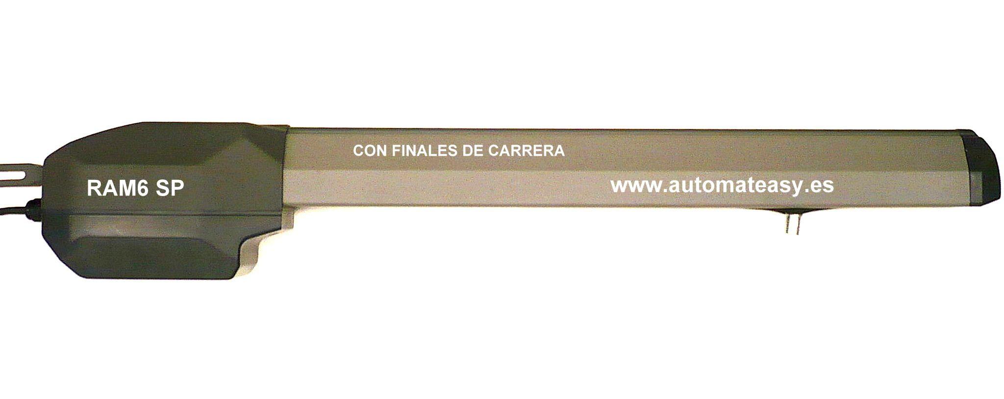 Potente y silencioso motor electromecánico de puerta batiente. visite la WEB: wwwautomateasy.es