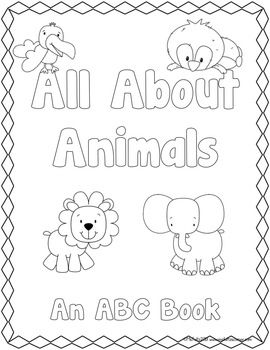 photo about Printable Abc Book Template called ABC Ebook Template: All With regards to Pets Coloring printable