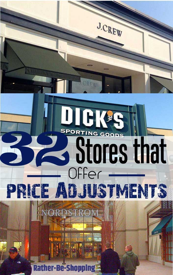 All the Stores that Offer Price Adjustments