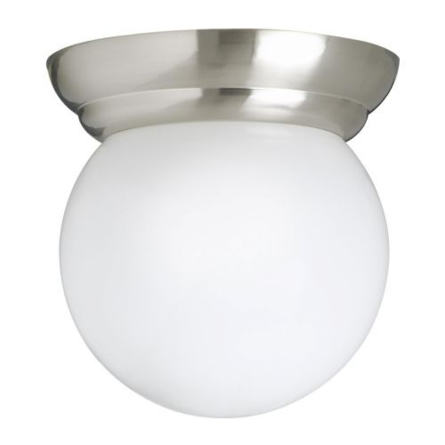 Lillholmen Ceiling Wall Lamp Nickel Plated White Interiors