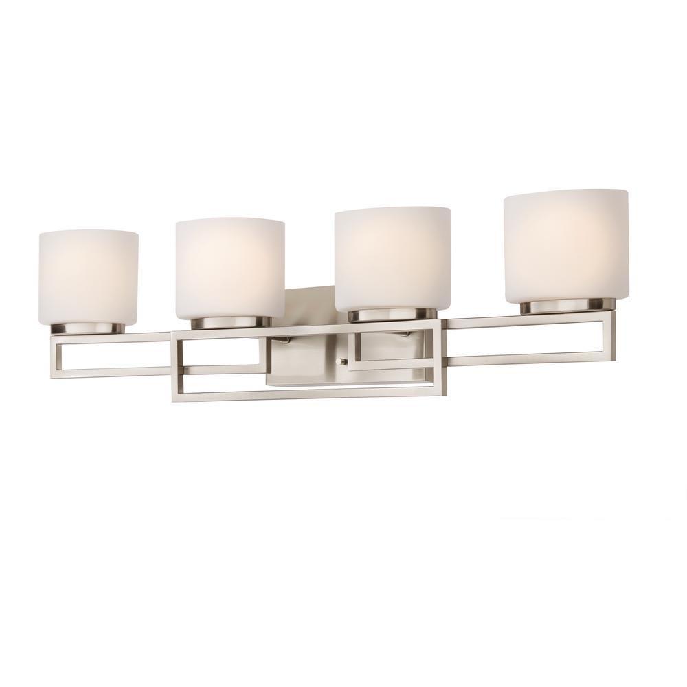 Home Decorators Collection Tustna 4 Light Brushed Nickel Bathroom