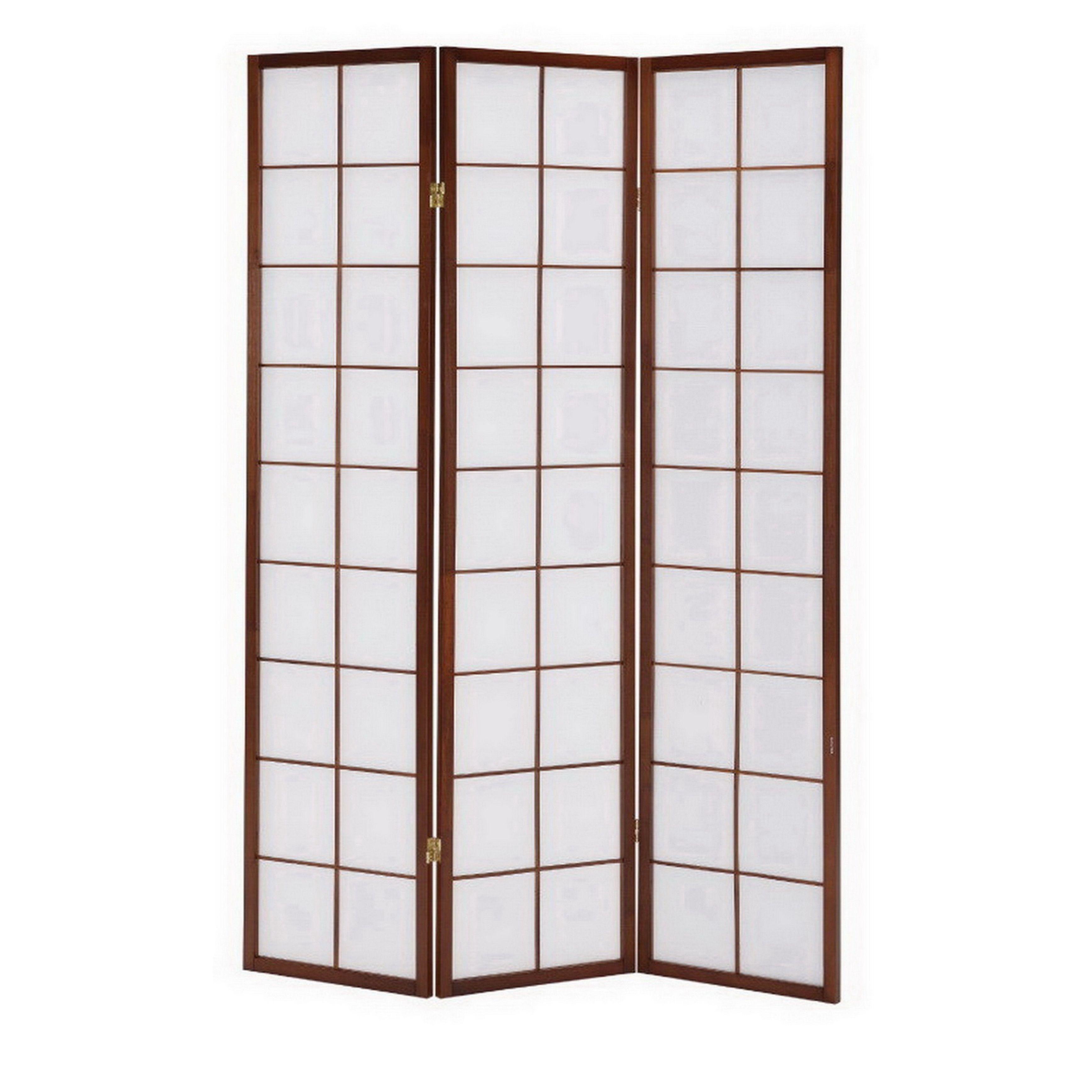 Lyke Home /Off-white Tri-fold Room Divider