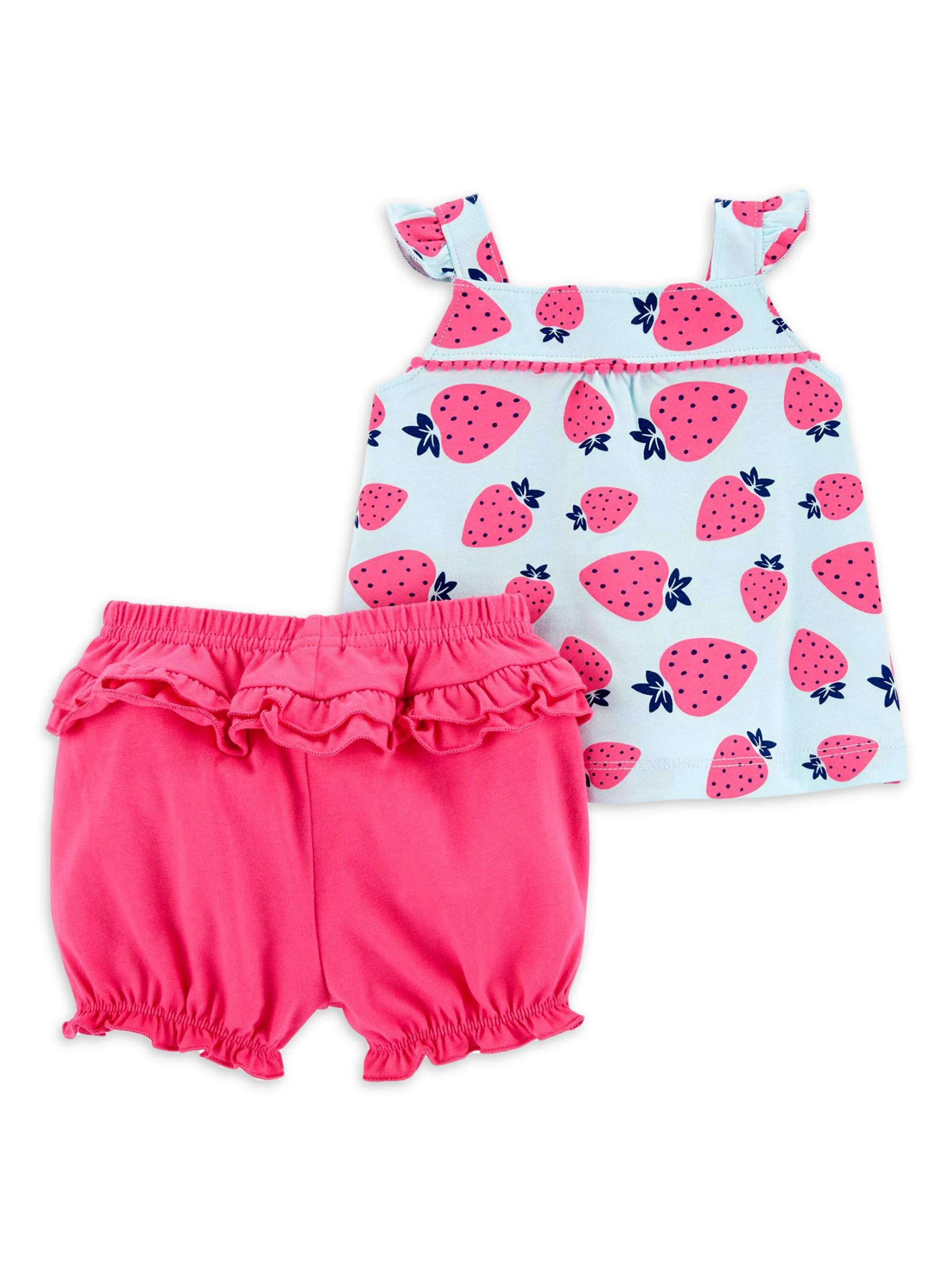 Carters Baby Girl 2-Piece Bear Fleece Top Floral Legging Set 2pc 18 24 Months