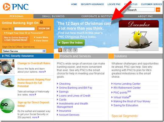 Elements Online Banking Thing 1 Thing 2 Pnc